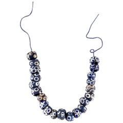 Ensemble Phoenician Blue Glass Eye Beads, Fine Ancient Jewelry