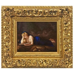 Antique Meissen Porcelain Plaque after Correggio