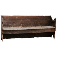 18th Century Poplar Wood Spanish Hall Bench