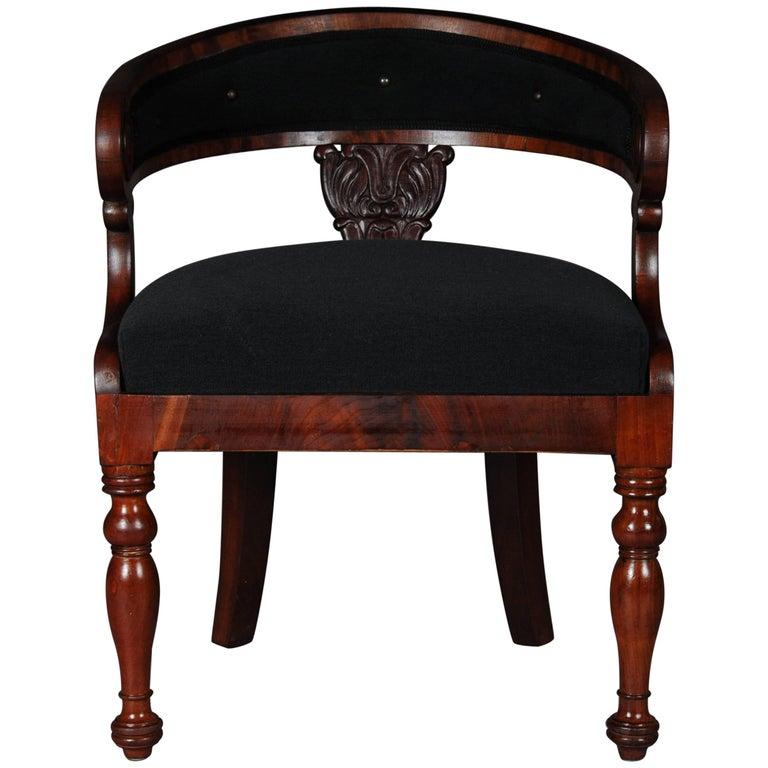 Antique Empire / Biedermeier Armchair, circa 1810, Mahogany For Sale