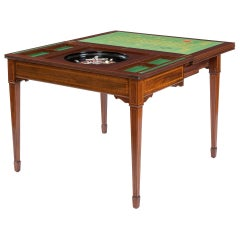 19th Century Mahogany Roulette and Card Table