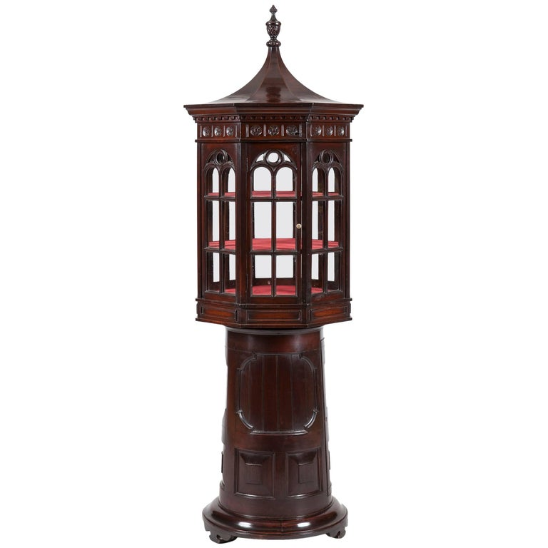 Unusual 19th Century Display Cabinet in the Form of a Lighthouse