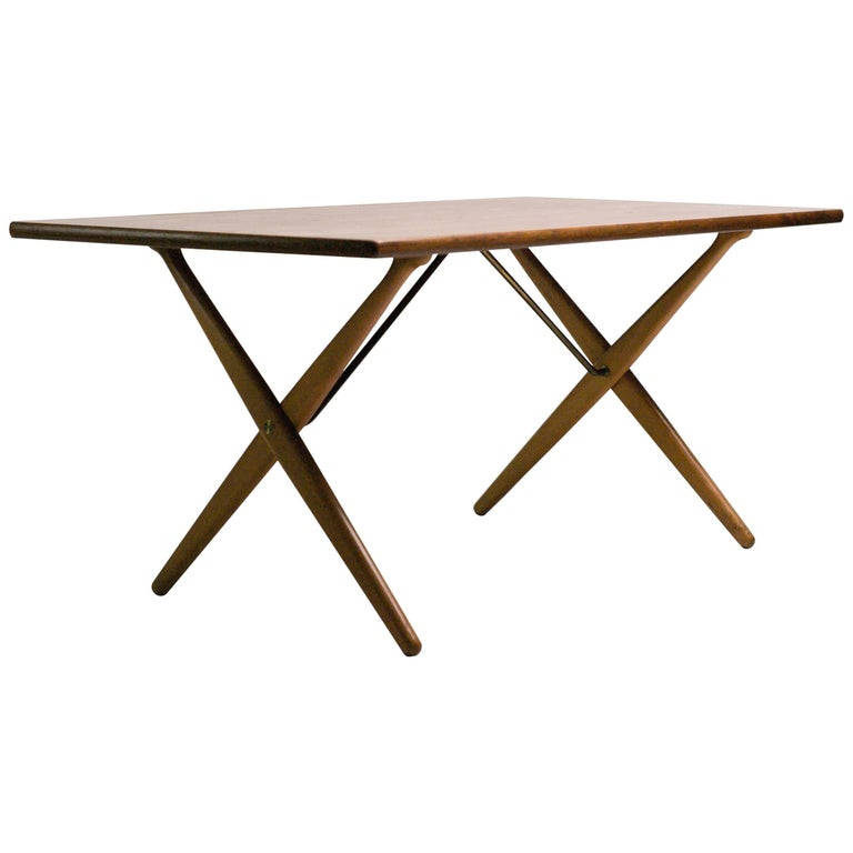 Early Hans Wegner AT-303 Cross Leg Dining Table