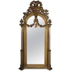 19th Century Classicistic Splendor Mirror Gilt Napoleon III
