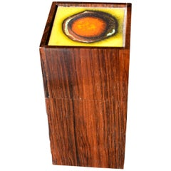 Danish Midcentury Rosewood Box by Alfred Klitgaard with Enamel by Bodil Eje