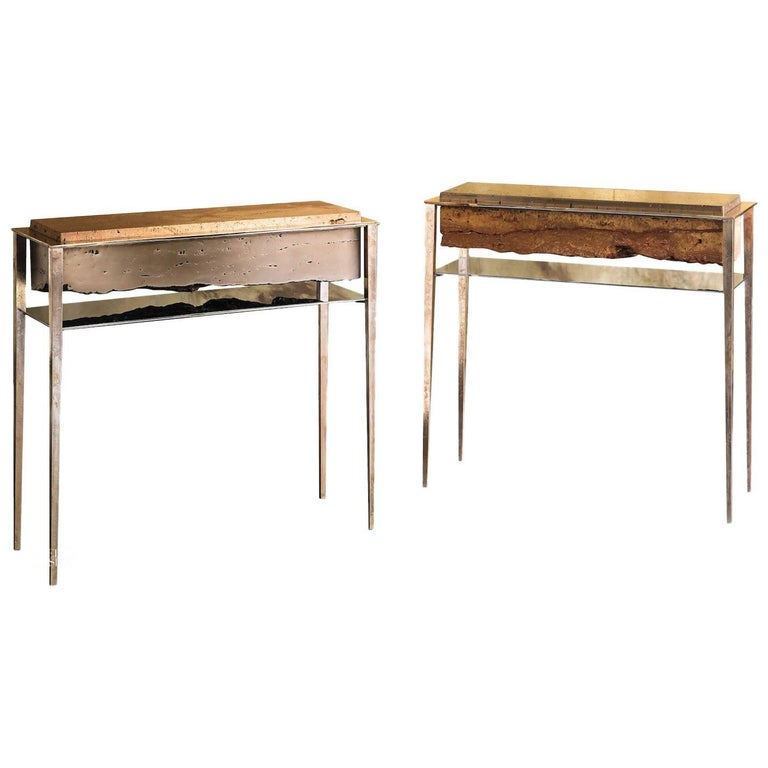 Cremino Console Hand-Crafted by Gianluca Pacchioni For Sale