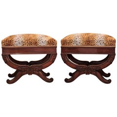 Pair of Empire French Curule Stools