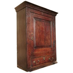 18th Century George II Period Oak Antique Hanging Cupboard