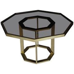 Einzigartiger Romeo Rega Salon Tisch, Poliertes Messing
