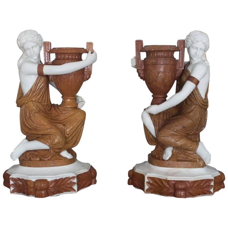 Orientalist sculpture of a water carrier circa s for
