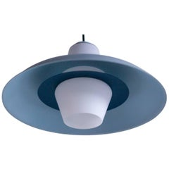 Frosted Glass Pendant by Louis Kalff