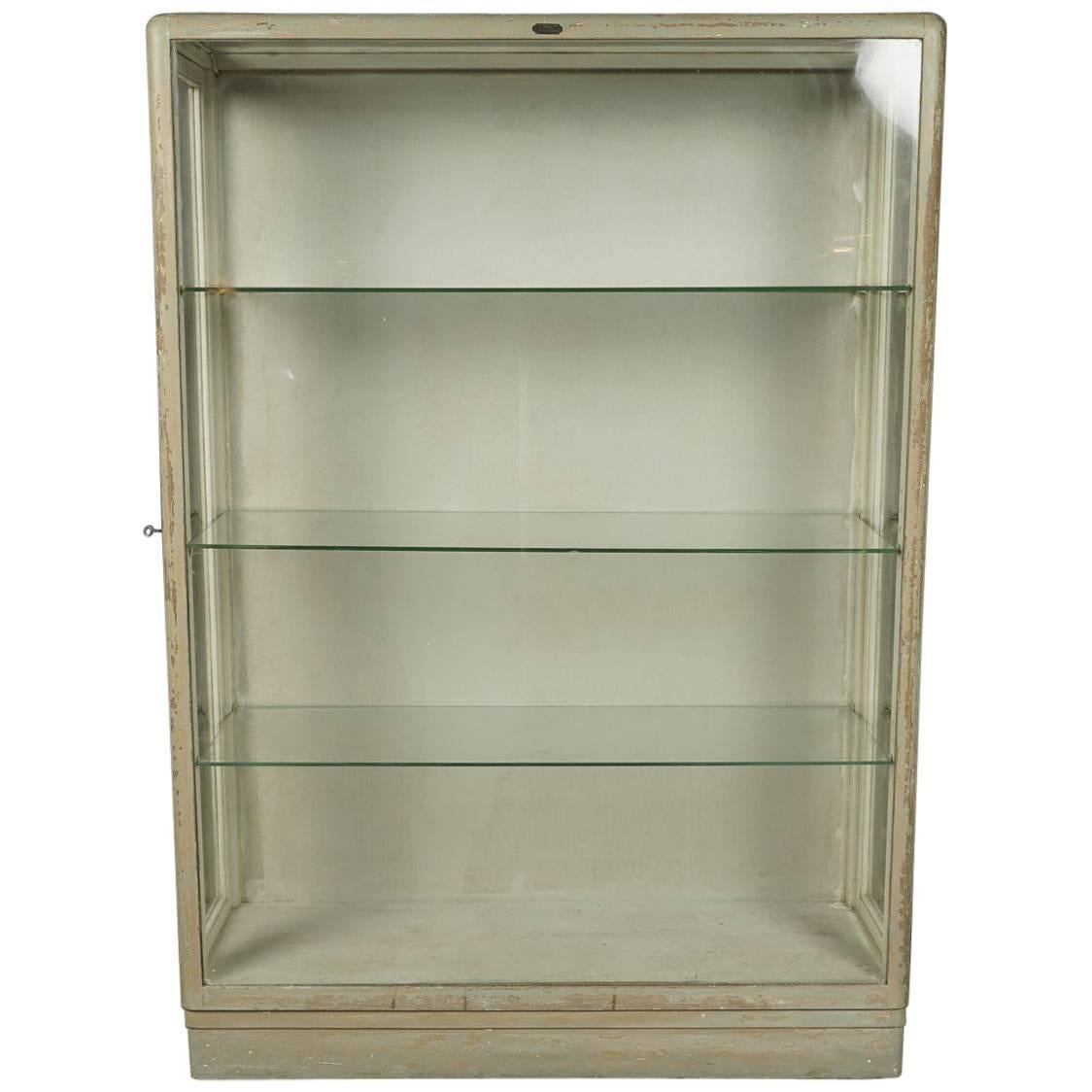 French Glass Display Cabinet, Circa 1940 For Sale