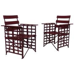 Pair of Art Deco Garden Armchairs