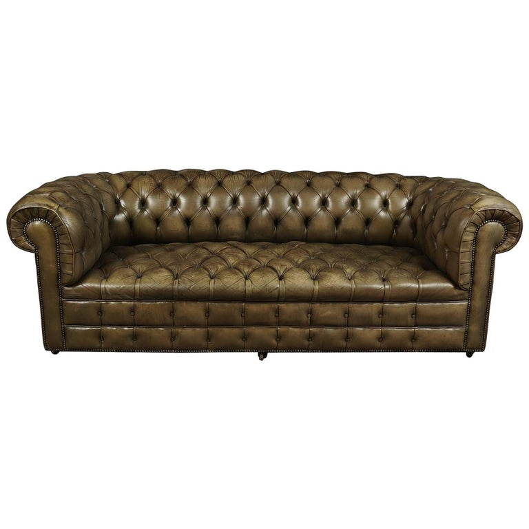 Chesterfield Sofa from England, circa 1950 For Sale at 1stdibs