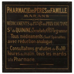 Shop Sign from a Pharmacy, France, circa 1940