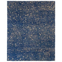Angela Adams Starry, Blue Area Rug, 100% New Zealand Wool, Hand-Knotted, Modern