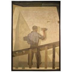 Rare Russian Avant-Garde Panel (80 inches Height), circa 1935