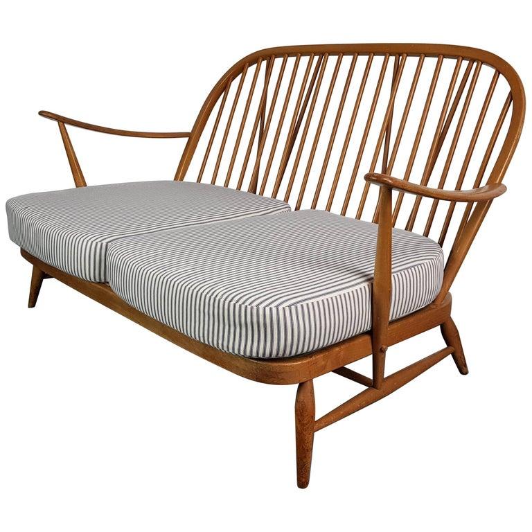 Antique Ercol Sofa: Refurbished Vintage Ercol Windsor Two-Seat Sofa