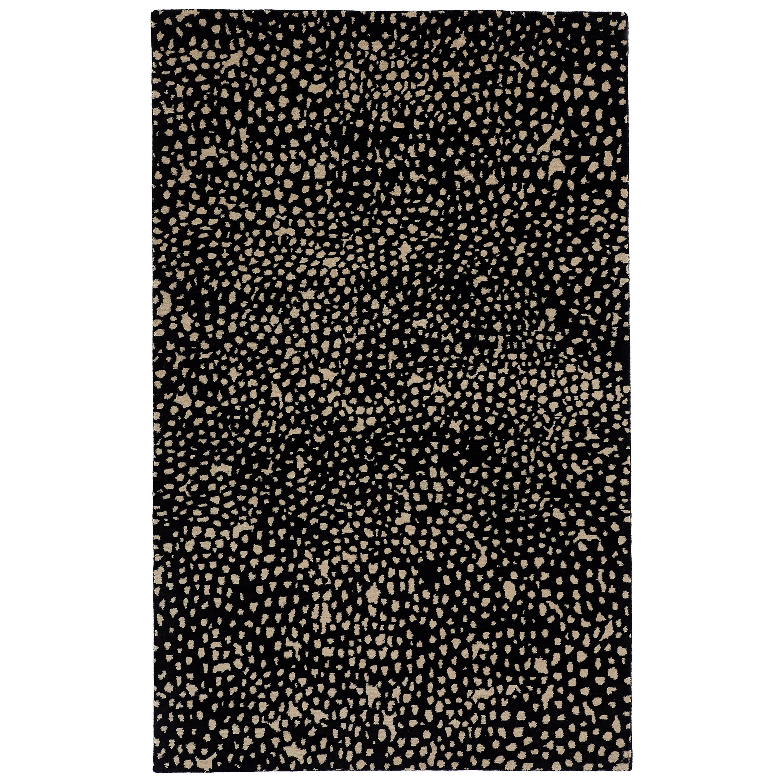 Angela Adams Starry, Black Rug, 100% New Zealand Wool, Hand-Knotted, Modern
