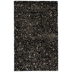 Angela Adams Starry, Black Rug, 100% New Zealand Wool, Hand-Knotted, Modern