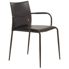 Italian Dining Chair Leather Modern Design