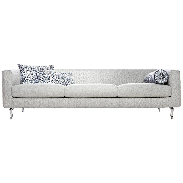 Moooi Boutique Delft Grey Jumper Triple-Seat Sofa by Marcel Wanders