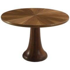 Italian Inlayed Oak Pedestal Centre Table