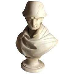 19th Century Italian Marble Bust of a Young Napoleon, Signed circa 1850