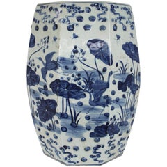 Chinese Blue and White Octagonal Garden Stool