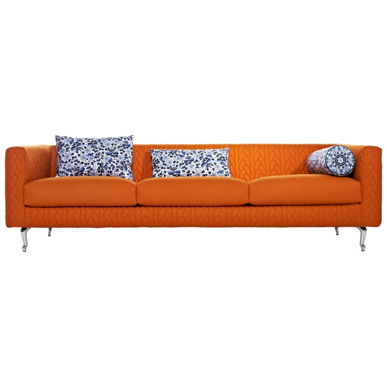 Moooi Boutique Delft Blue Jumper Triple Seater Sofa by Marcel Wanders