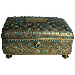 19th Century Ormolu Box Inlaid with Turquoise