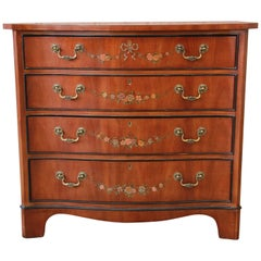 Drexel Heritage Satinwood Hand-Painted Adam Style Chest of Drawers
