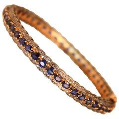 Sapphire Diamond Bangle Bracelet