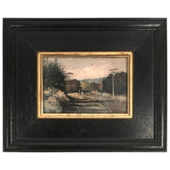 19th Century Small Landscape Cabinet Painting