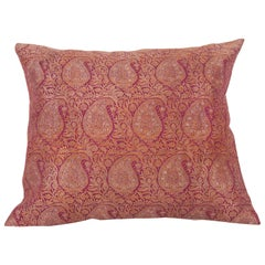 Antique Pillow Case Fashioned from Early 20th Century Indian Zari Brocade