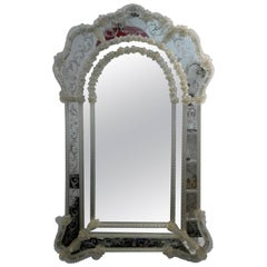 Murano Glass Mirror with Edged Branches