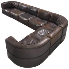De Sede DS-15 Deep Brown Sectional Sofa