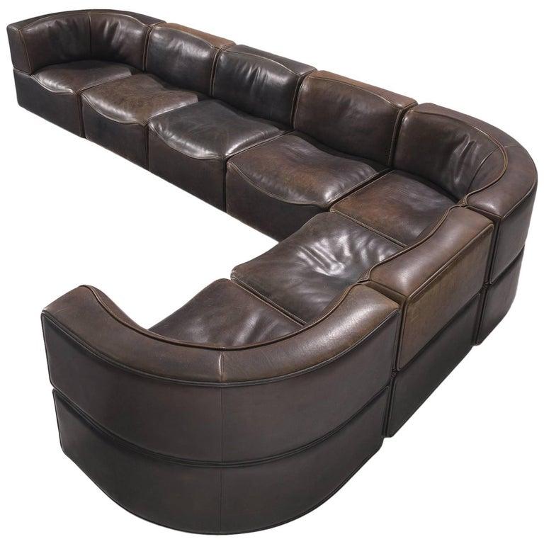 De Sede DS-15 Deep Brown Sectional Sofa