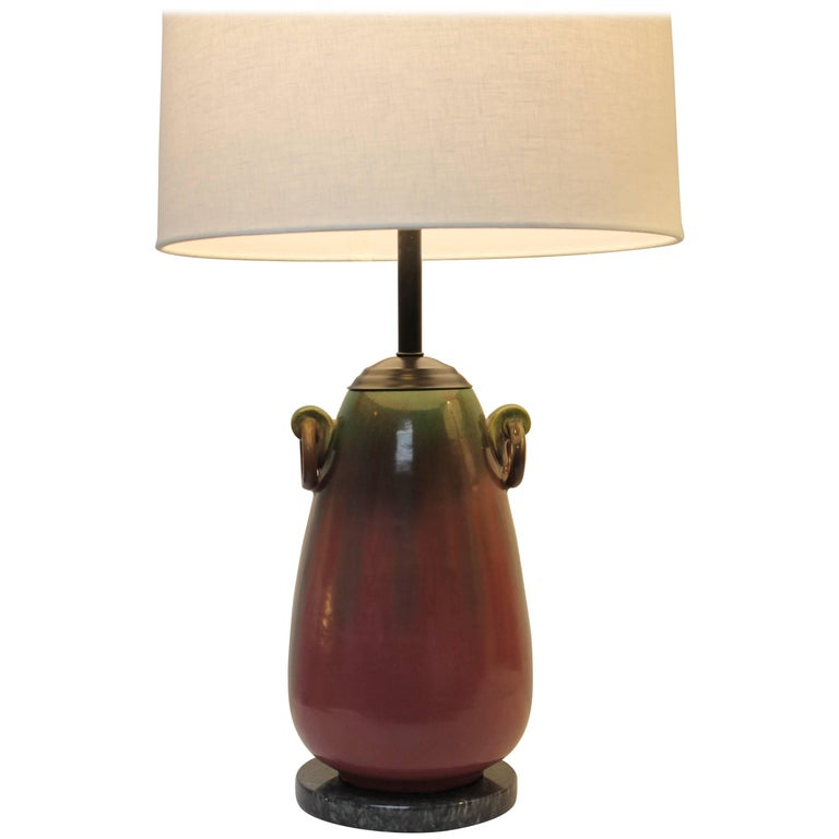 Fulper Ceramic Lamp For Sale