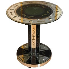 1940s Mirrored Small Round Table