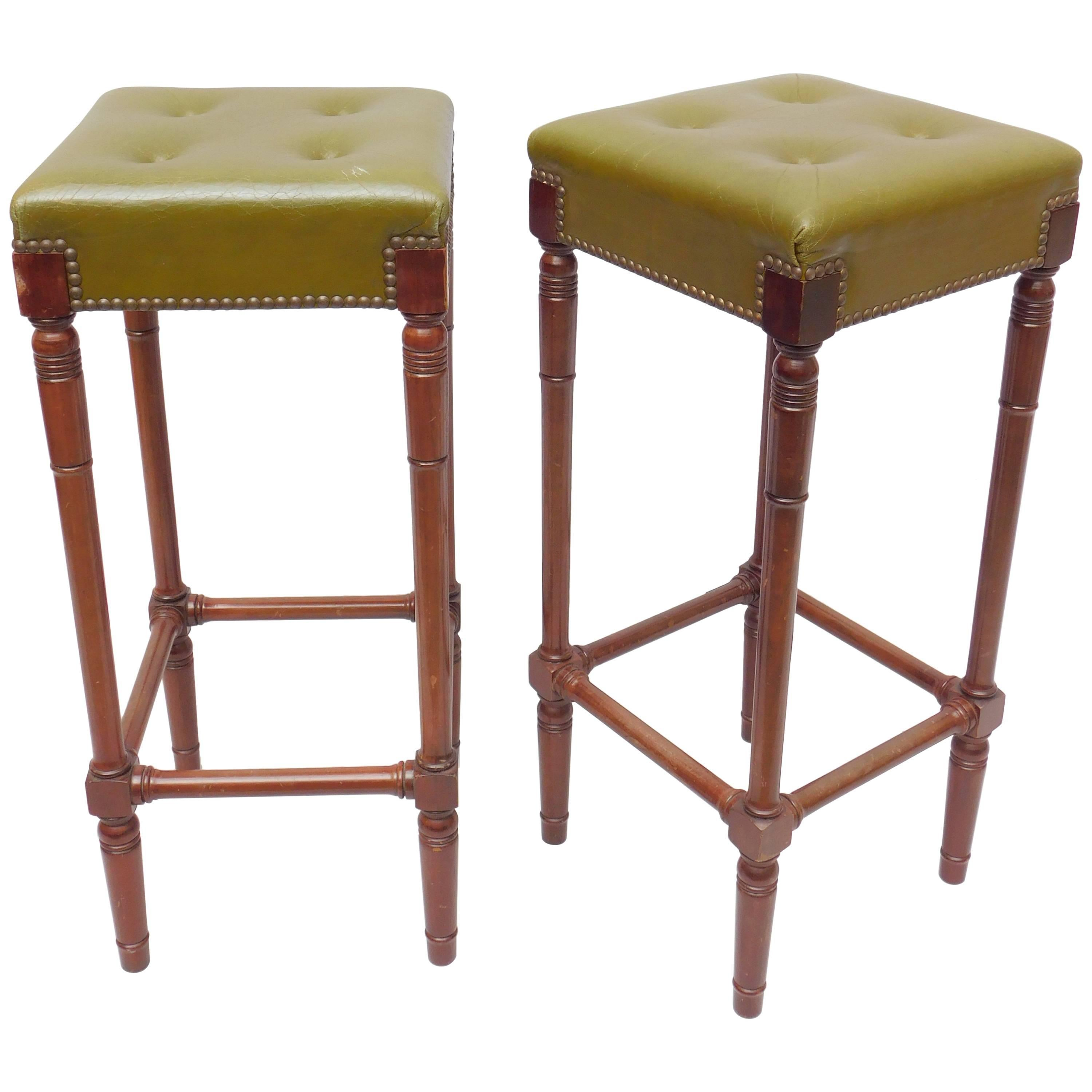 Pair Of Vintage Iron And Leather Bar Stools By Ilana Goor For Sale At  1stdibs