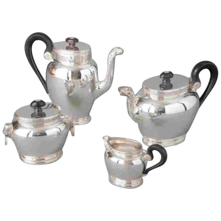 19th Century Antique Silver Tea and Coffee Set