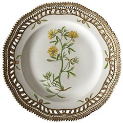 Royal Copenhagen Flora Danica Plate with Pierced Border #20/3554