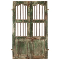 Teak Wood and Iron Courtyard Gate or Doors