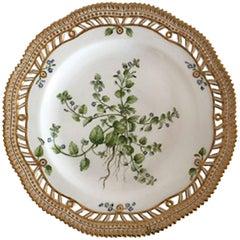 Royal Copenhagen Flora Danica Plate with Pierced Border #3554 Antique