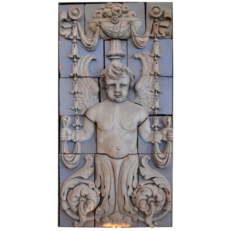 Polychrome Terracotta Angel