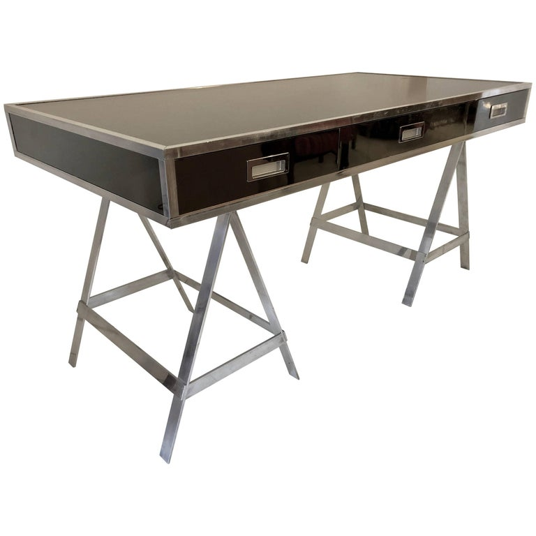 Vintage Alessandro Albrizzi Trestle Desk For Sale