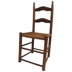 Ladder Back Country Child's Chair with Rush Seat