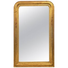 Louis Philippe Gilt Arch Top Mirror (H 56 x W 35)