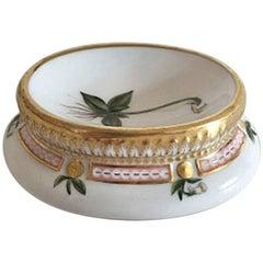Early Royal Copenhagen Flora Danica Salt Dish #3557 from 1870s